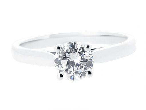 浮动环境中的圆形孤独的订婚戒指- ER 1434