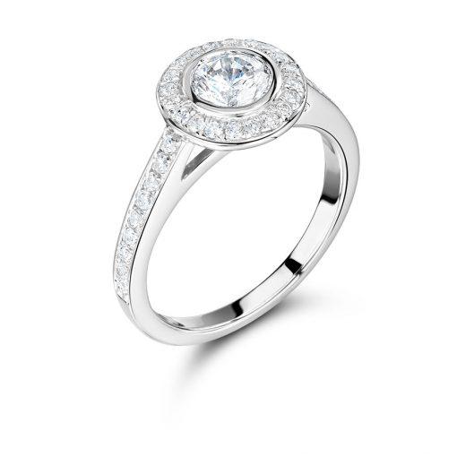 手工制作的Rubover光环订婚戒指