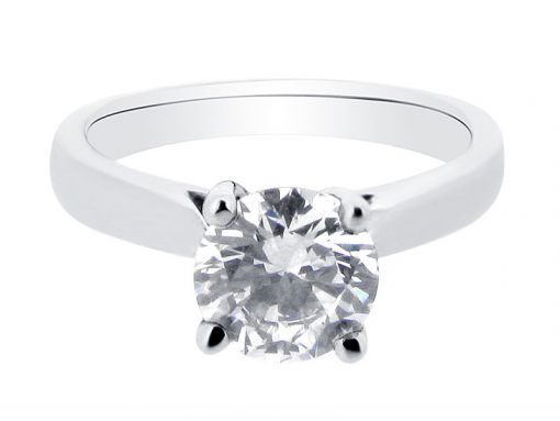 Round Brilliant Solitaire Engagement Ring - ER 1477