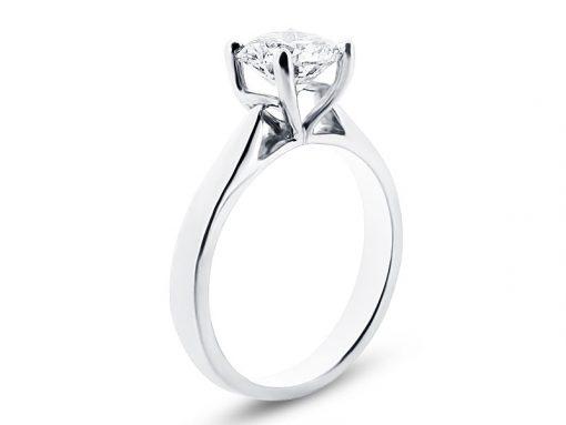 Classic Asscher Cut Solitaire Ring - ER 1477