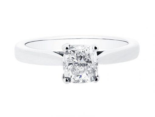 Cushion Cut Solitaire Engagement Ring from Voltaire Diamonds Dublin