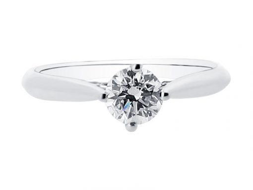 Round Brilliant Solitaire in Compass Setting Engagement Ring - ER 1508