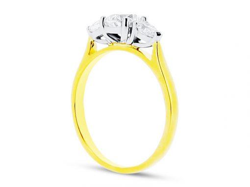 Round Pear Diamond Engagement Ring - ER 1565