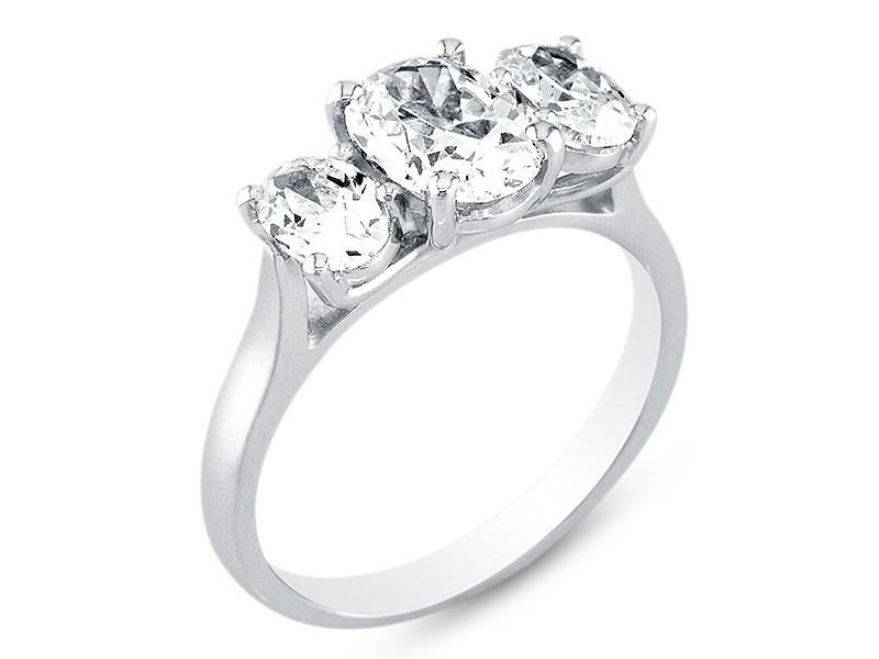 Three Stone Oval Trilogy Diamond Engagement Ring Er 1066