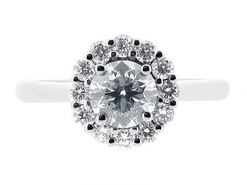 Handmade Cluster Style Engagement Ring - ER 1039