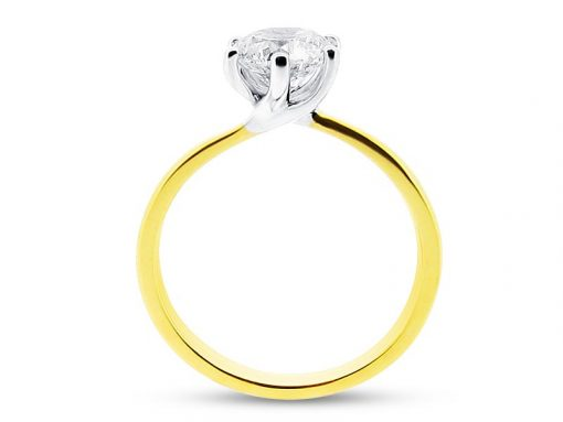 er 1101 yellow side round solitaire 6 claw twist plain