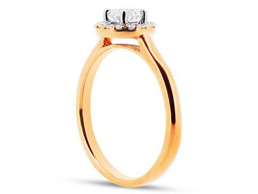 er-1157 rose gold diamond ring