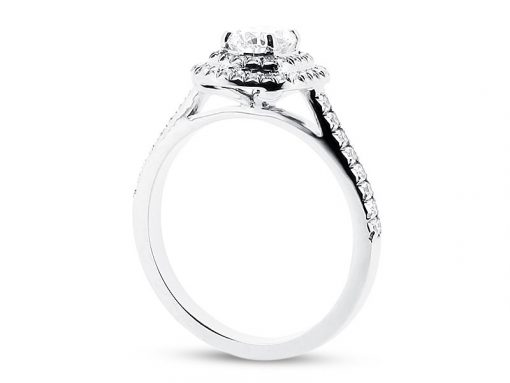 Cushion Double Halo Diamond Engagement Ring - ER 1334