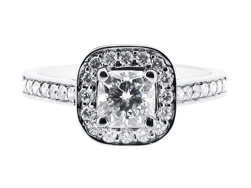 Cushion Cut Halo Engagement Ring - ER 1335