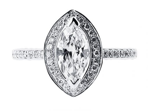 Marquise Halo Engagement Ring - ER 1511