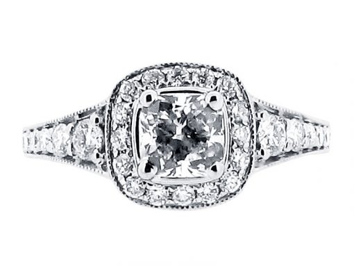 Antique Halo Style Engagement Ring - ER 1519