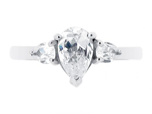 Pear 3 Stone Engagement Ring ER 1841