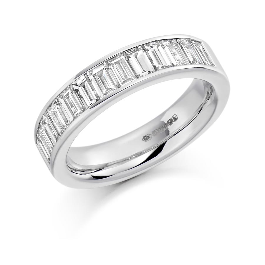 Channel Set With Baguette Cut Diamond Wedding Eternity Ring