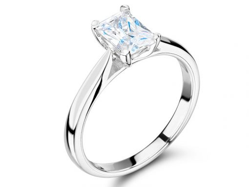 Emerald Cut Solitaire Engagement Ring ER 1546