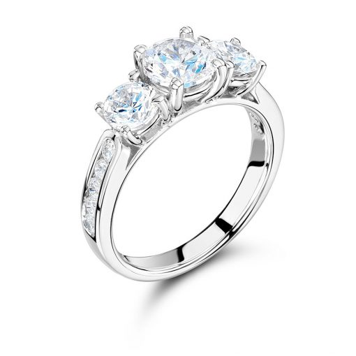 Round Pear Diamond Engagement Ring - ER 1565