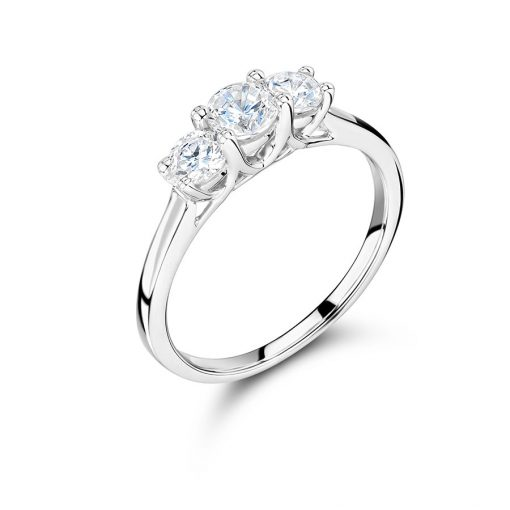 Graduated Round Trilogy Engagement Ring- ER2322