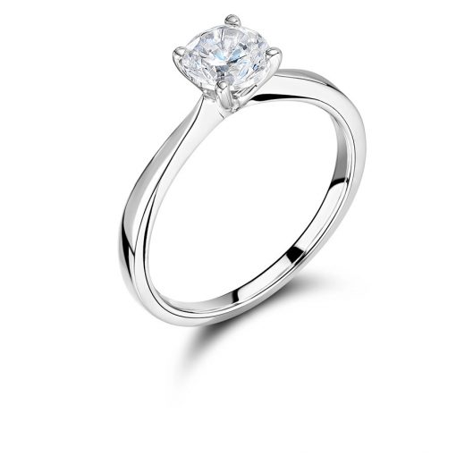ER 2201 - Elegant Round Brilliant Solitaire Style Diamond Engagement Ring Voltaire Diamonds Dublin