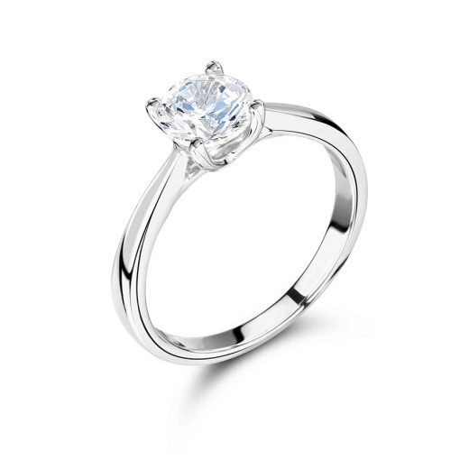 Round Solitaire with Low Crosslink Collet Engagement Ring - ER2124