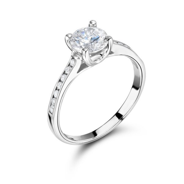 Round Solitaire Engagemetnt Ring from Voltaire Diamonds Dublin