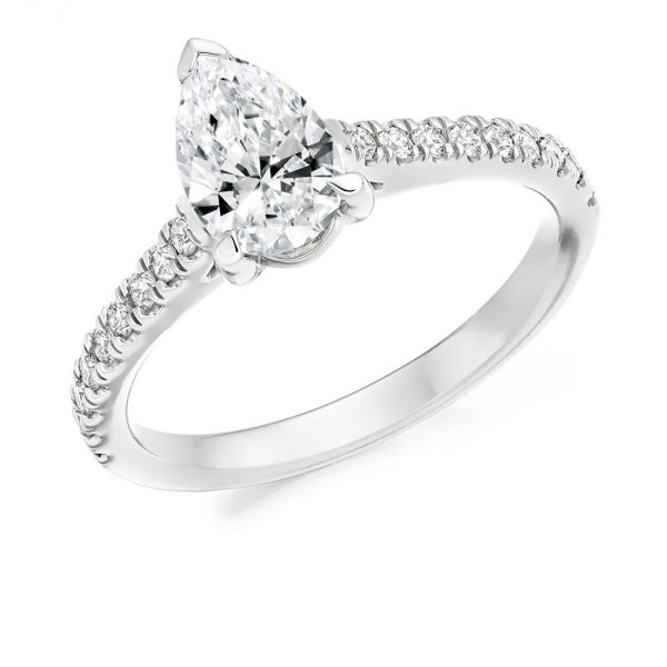 Pear Shaped Engagement Ring Voltaire Diamonds Dublin
