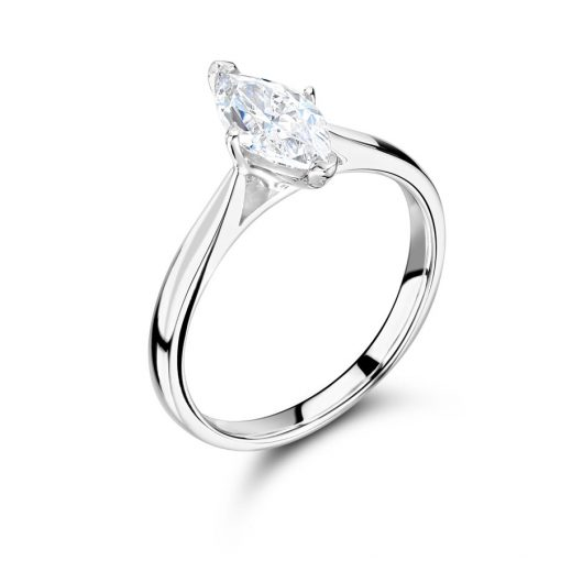 Marquise Solitaire with Tapered Shoulders Engagement Ring - ER2403