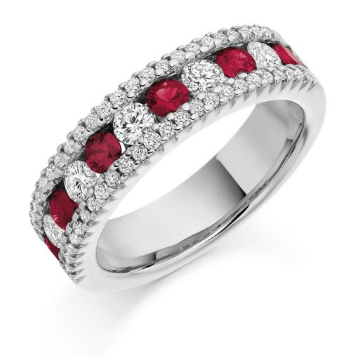 HET1290 Ruby Diamond Ring