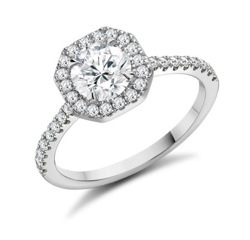 Marquise Double Halo Engagement RingMarquise Double Halo Engagement Ring