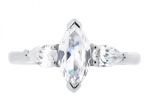 ER 1846 marquise 3 stone pear