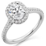 ER 2065 Oval Scallop Halo Engagement Ring 1