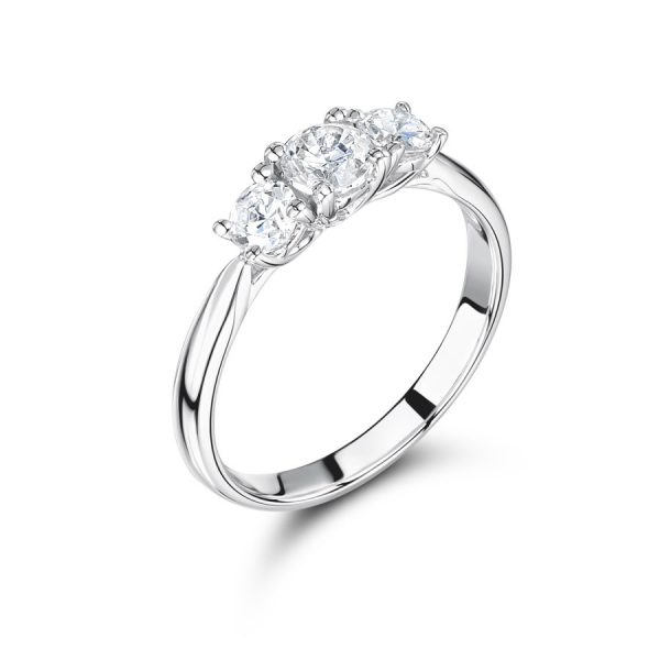 Graduated Round Trilogy Ring
