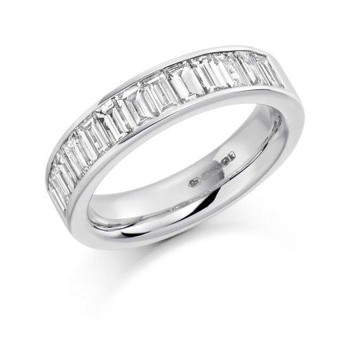Baguette Cut Channel Set Eternity Ring HET1189