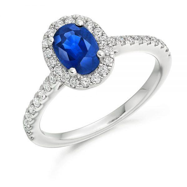 blue sapphire engagement rings ER2065