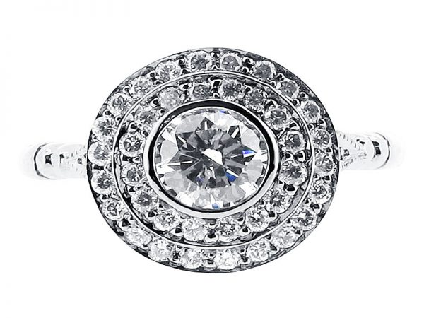 er 1031 round double halo engagement ring