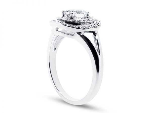 er 1051 side oval double halo pave engagement ring