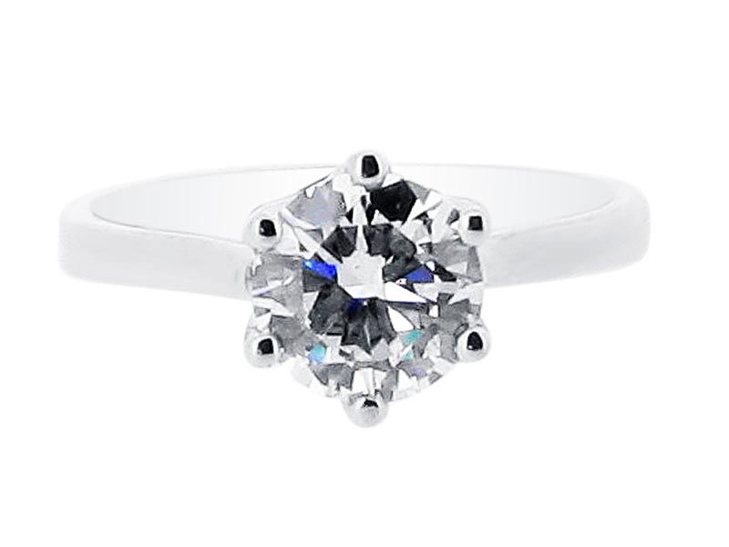 Diamond Round Solitaire Six Claw Engagement Ring – ER 1378