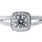 er 1393 round halo pave engagement ring