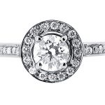 er 1491 round halo pave engagement ring