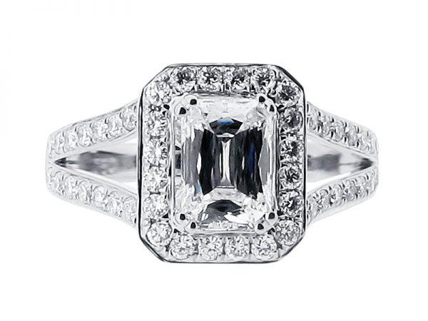 er 1509 side prince halo pave split engagement ring