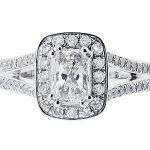 er 1516 radiant halo pave split engagement ring