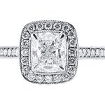 er 1561 cushion pave halo 4 claw 2 engagement ring