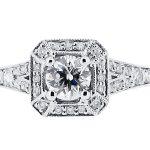 er 2002 round brilliant antique style split shoulder pave halo shoulders engagement ring