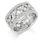 fet1738 wedding eternity diamond ring